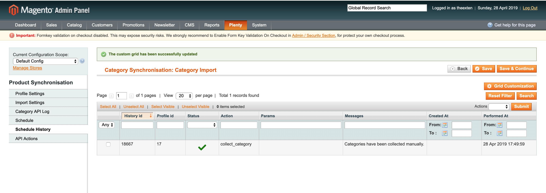 Mage2Plenty - category import configuration