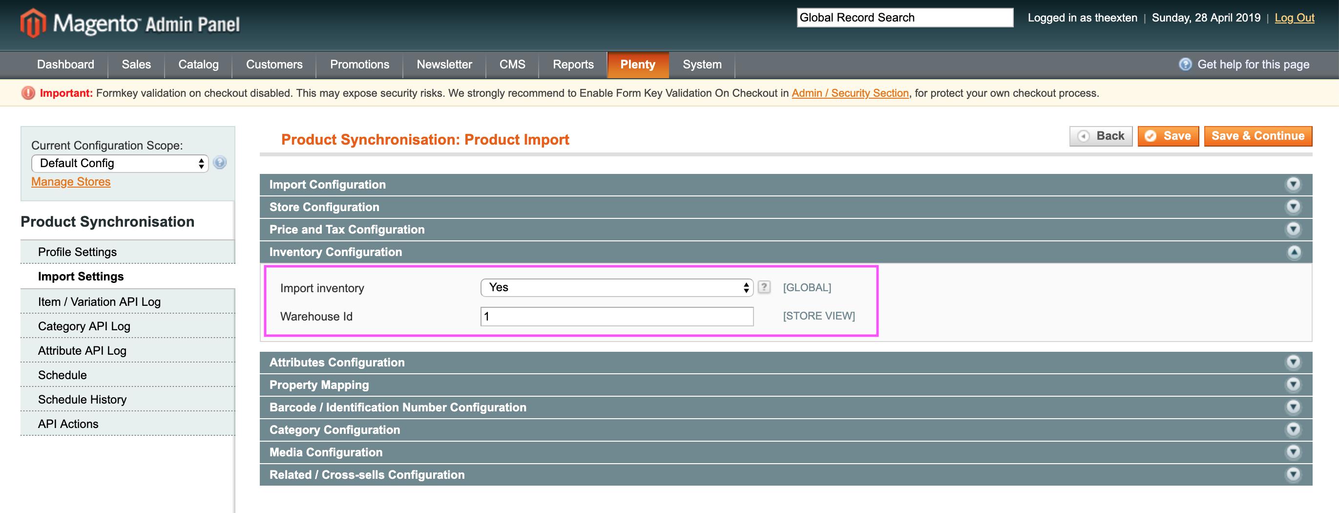 Mage2Plenty - product import - stock configuration