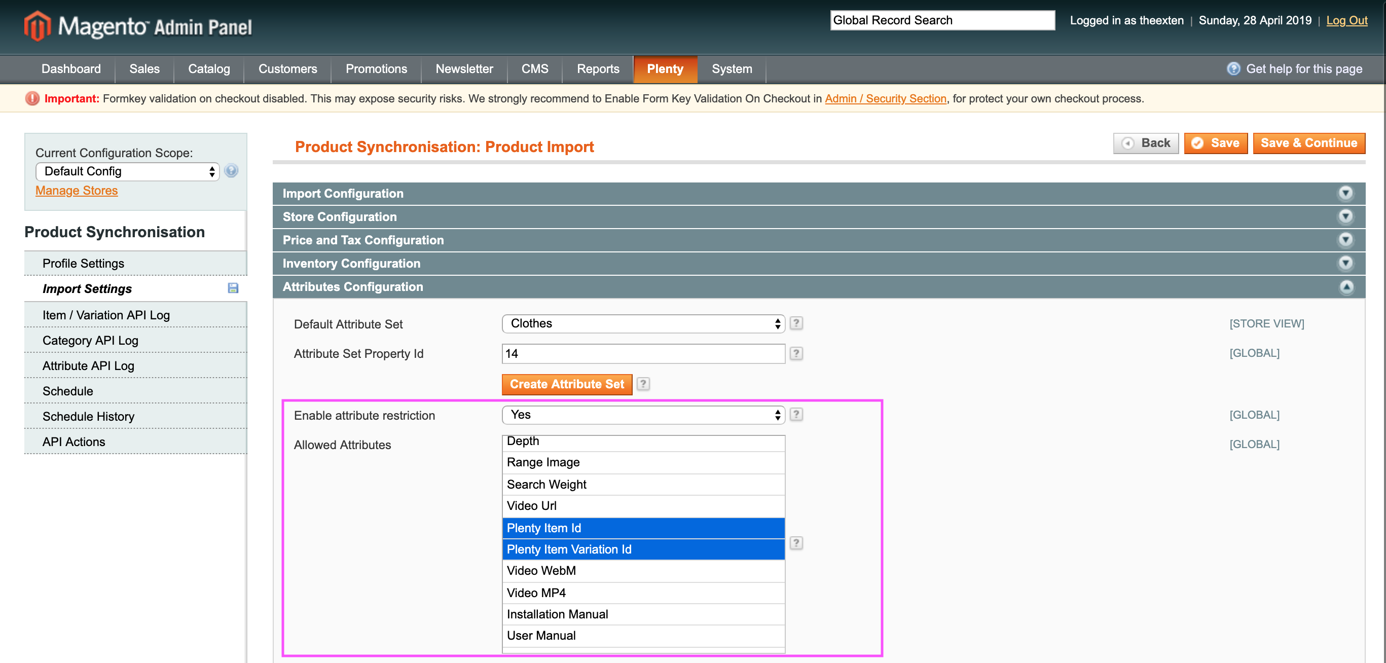 Mage2Plenty - product import - name mapping