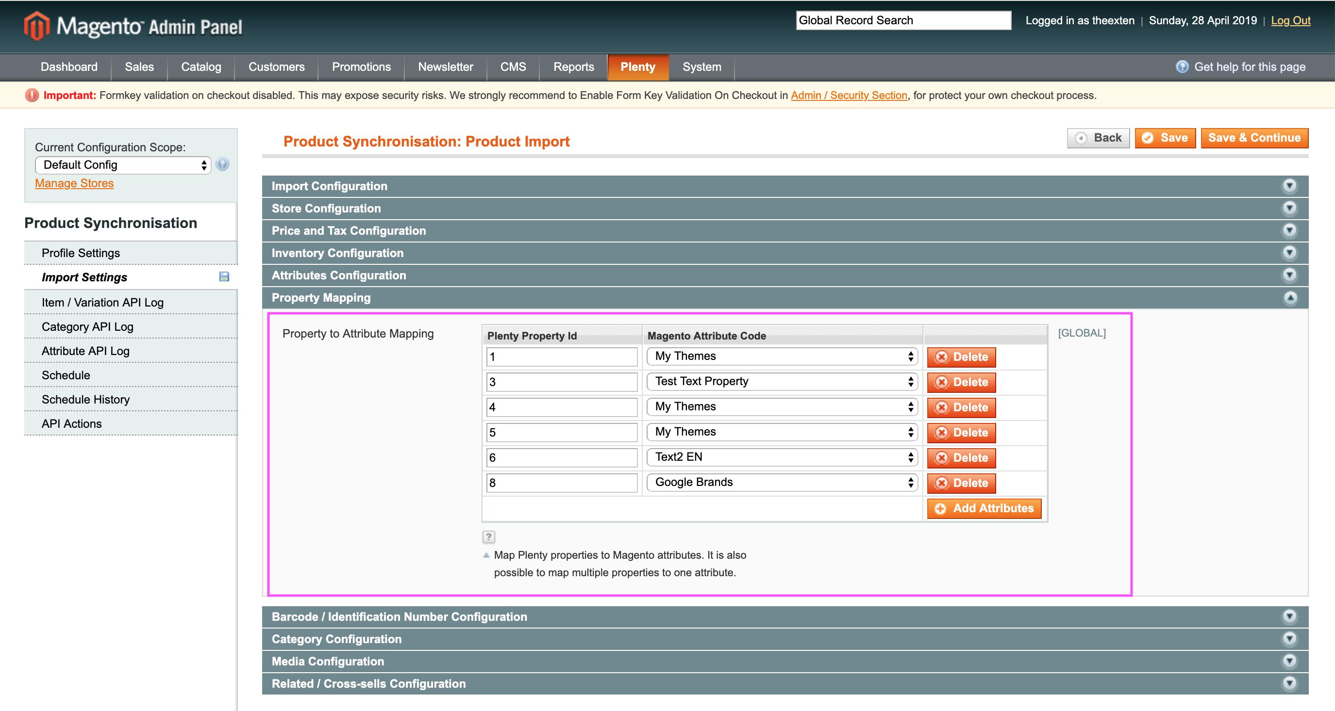 Mage2Plenty - product import - property configuration