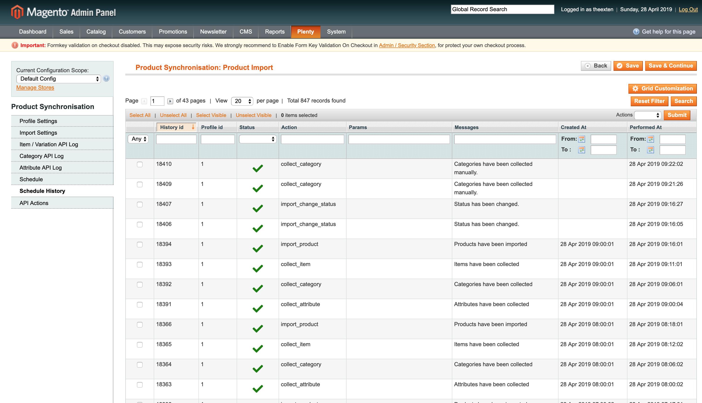 Mage2Plenty - product import configuration