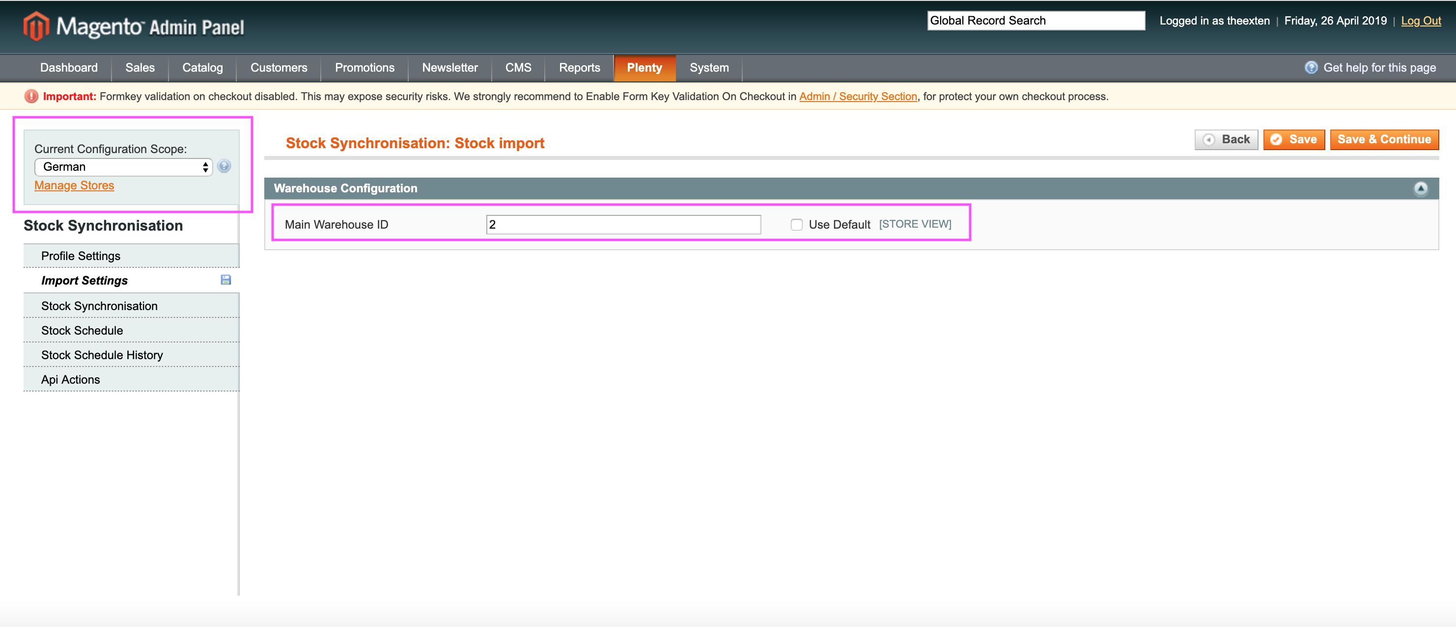 Mage2Plenty - stock import configuration